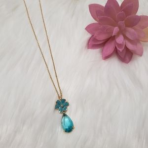 Kate Spade Blue Floral Necklace